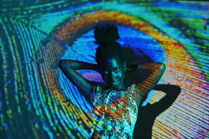 creatief portret gekleurd licht