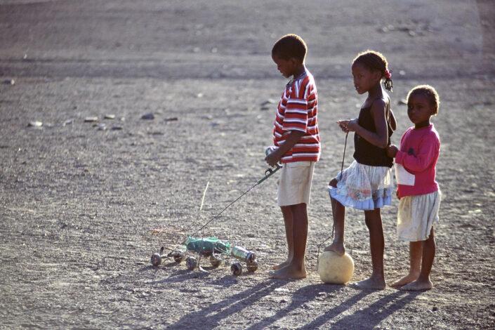 Kinderen in Namibie