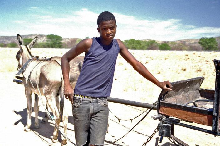 jongen in Namibie