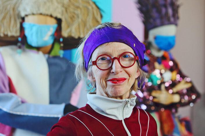 Zakelijk portret van kunstenares