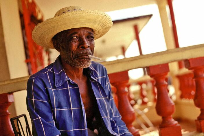 Portretfotogarfie van mens Cuba