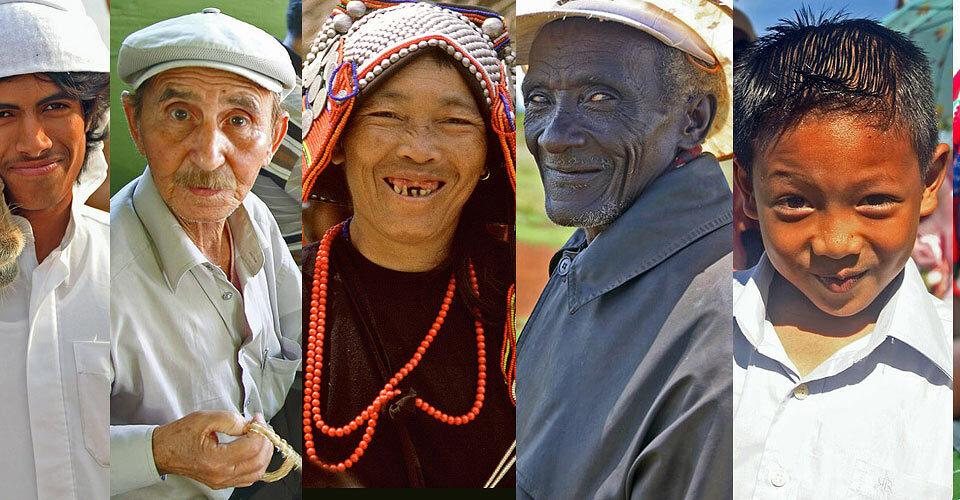 Mensen portretfotografie wereldwijd